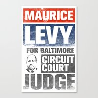 Maury Levy For Judge Canvas Print