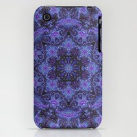 iPhone Cases featuring Blue and Purple Kaleidoscope by Dweezal