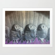 Lil' Owls  Art Print