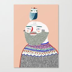 Man and Owl.  Canvas Print