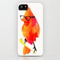iPhone Cases featuring Punk bird by Robert Farkas