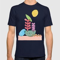 Still Life with Egg & Worm Mens Fitted Tee Navy SMALL