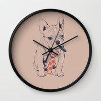 FRENCH BULLDOG BOSS Wall Clock