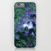 iPhone & iPod Case featuring Just another kitty among the flowers by sissidesign