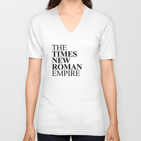 THE TIMES NEW ROMAN EMPIRE V-neck T-shirt