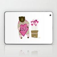 Bear with loveheart Laptop & iPad Skin