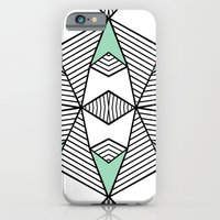 Triangle Tribal Mint iPhone 6 Slim Case