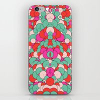 Chaotic Circles Pattern iPhone & iPod Skin