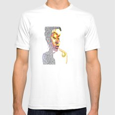 Dotts Mens Fitted Tee SMALL White