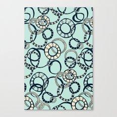 Honolulu hoopla pale blue Canvas Print
