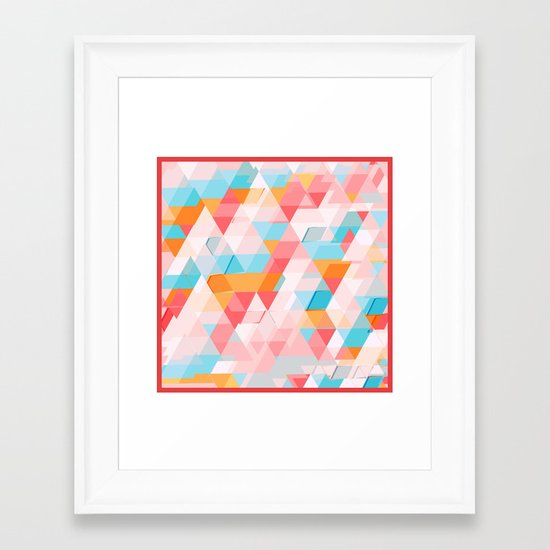 Crumbling triangles Framed Art Print