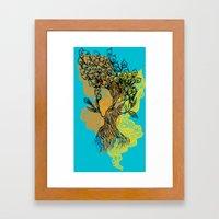 Peacock Tree Framed Art Print