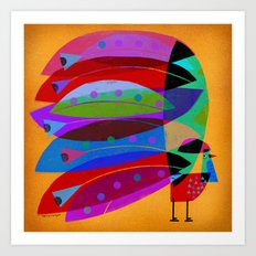 ROOSTER PLUMAGE Art Print