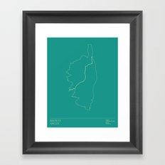 Le Tour De France Stage 2 Minimal Poster Framed Art Print