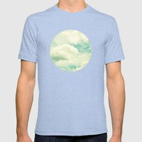 Clouds Mens Fitted Tee Tri-Blue SMALL