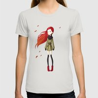 Autumn Breeze Womens Fitted Tee Silver SMALL
