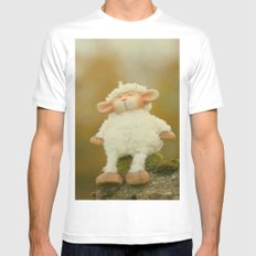 Just Sitting in the Evening Sun White Mens Fitted Tee SMALL