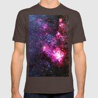 Tarantula Nebula Mens Fitted Tee Brown SMALL