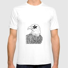 Eagle Eye White Mens Fitted Tee SMALL