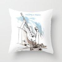 Peace Maker Throw Pillow