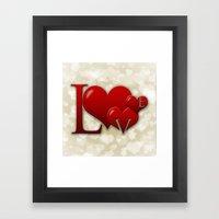 Love! Love! Love!  Framed Art Print