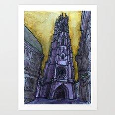 rainy Fribourg Art Print