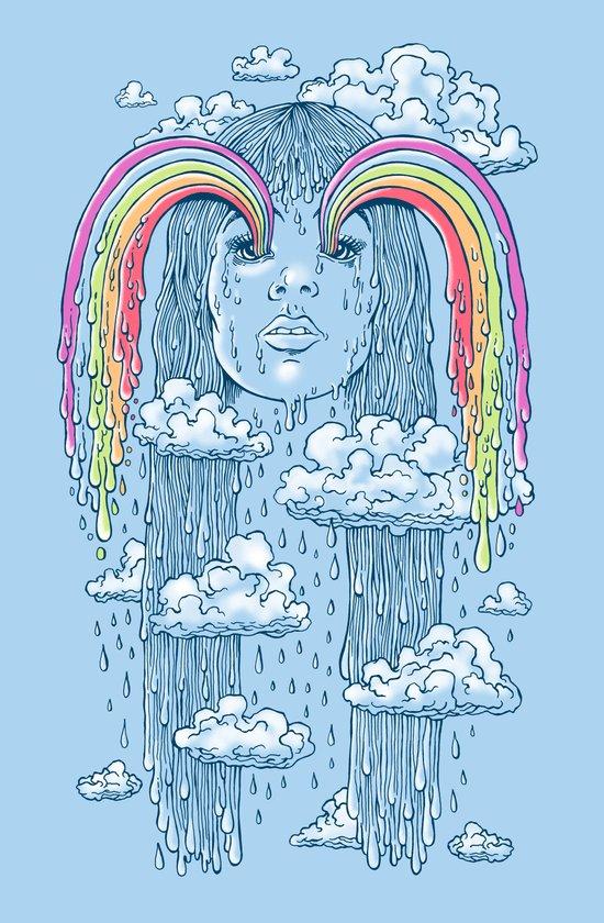 Rainface Art Print