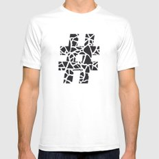 Hashtag White Mens Fitted Tee SMALL