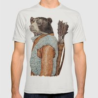 HUNTER Mens Fitted Tee Silver SMALL