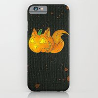 iPhone Cases featuring Wolf-o-Lantern by KristenOKeefeArt