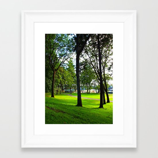 Neighborhood Park Framed Art Print