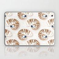 Laptop & iPad Skin featuring Nautilus - Linen by Jill Byers