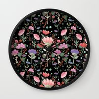 Wilderness Pattern Wall Clock
