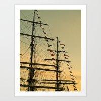 Ship Flags At The Tall S… Art Print