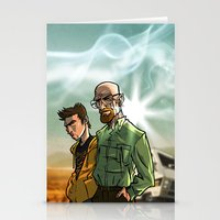 breaking bad Stationery Cards featuring Breaking Bad by Adrien ADN Noterdaem