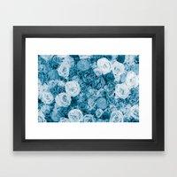 Bouquet ver.bluegreen Framed Art Print