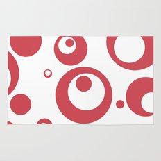 Circles Dots Bubbles :: Inverse Berry Blush Rug