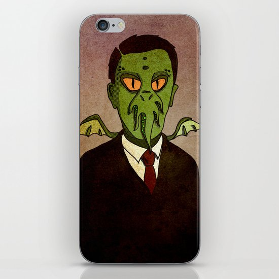 Prophets of Fiction - H.P. Lovecraft /Cthulhu iPhone & iPod Skin