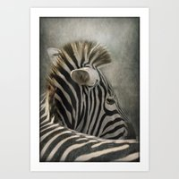 The striped Mohican Art Print