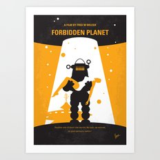No415 My Forbidden Planet minimal movie poster Art Print