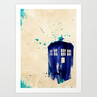 Doctor Who TARDIS Rustic Art Print