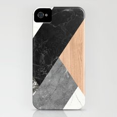 Marble and Wood Abstract Slim Case iPhone (4, 4s)