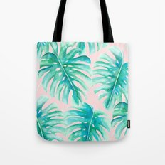 Paradise Palms Blush Tote Bag