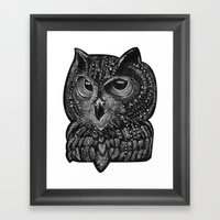 Cool owl Framed Art Print