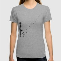 Alone Womens Fitted Tee Athletic Grey SMALL