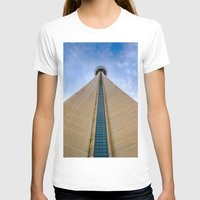 CN Tower up close Womens Fitted Tee White SMALL