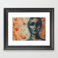 Blue Figure Framed Art Print