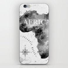 Africa Map in Black iPhone & iPod Skin