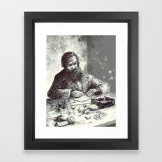 Yazar Masası Framed Art Print