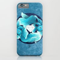 iPhone & iPod Case featuring underwater guardians - fishes by Marica Zottino